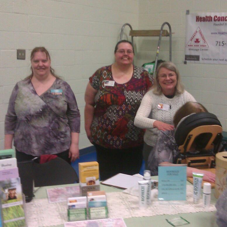 Kim with HC owners at FSB Health Fair 2013
